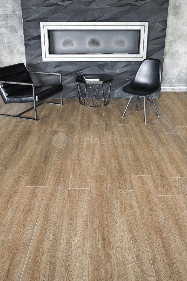 Плитка ПВХ Alpine Floor INTENSE  ECO 9-3 Бурый лес  (6мм-2.2326 м2 )