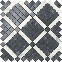 Керамический декор Atlas Concorde Marvel Noir Mix Diagonal Mosaic  30.5x30.5